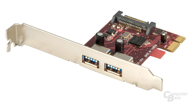 Lindy USB 3.0 Karte, 2 Port, PCIe