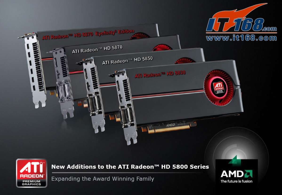 Neuvorstellungen: ATi Radeon HD 5830 und HD 5870 Eyefinity6-Edition