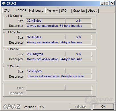 Cache des Intel Core i7-980X
