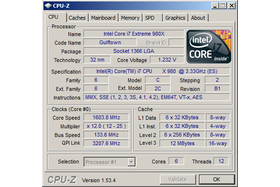 Intel Core i7-980X im Idle