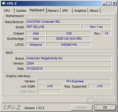 Mainboard und BIOS für Intel Core i7-980X