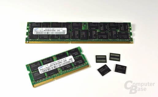 4-Gbit-DDR3-Bausteine in 40 nm von Samsung
