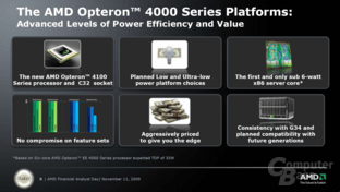 Features der AMD Opteron 4100 Series