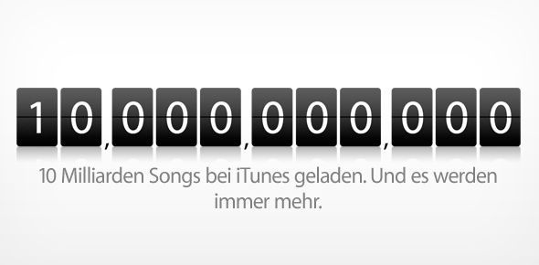 10 Milliarden Songs bei iTunes
