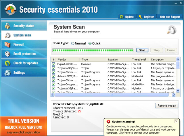 "Trojaner-verseuchtes ""Security Essentials 2010"""