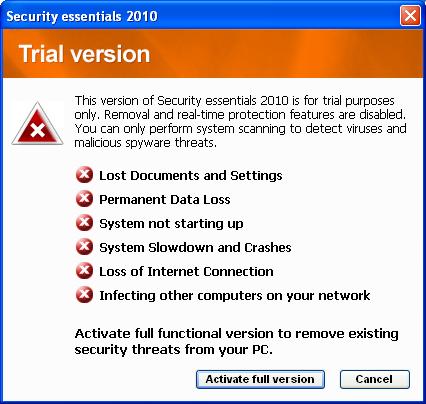 "Trojaner-verseuchtes ""Security Essentials 2010"""