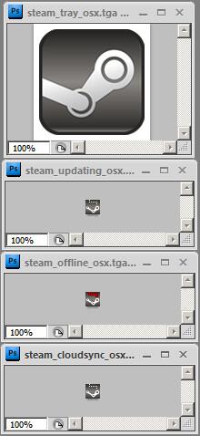 Steam-Symbole für Mac OS X?