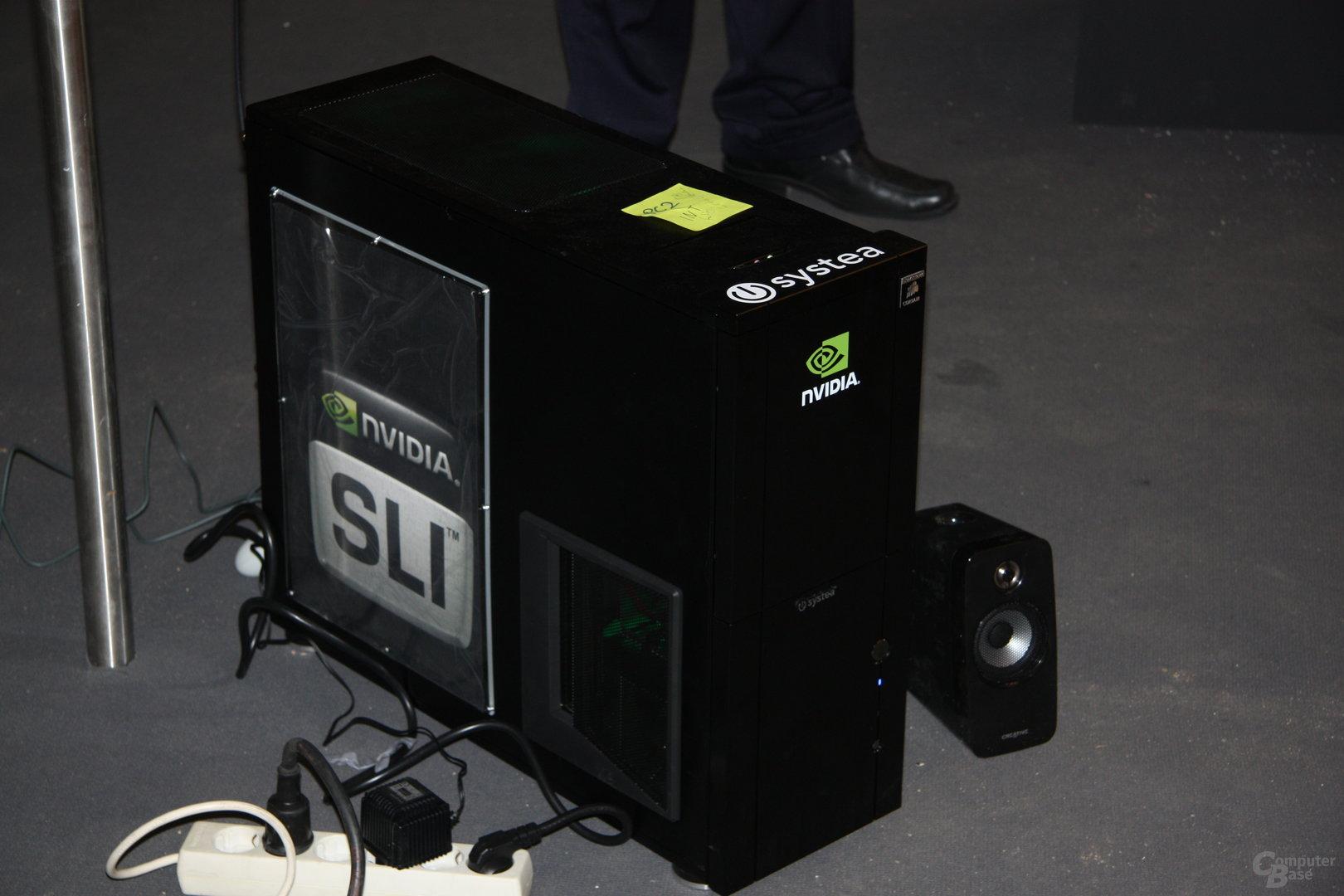 Nvidia GF100 Fermi am Stand von Zotac