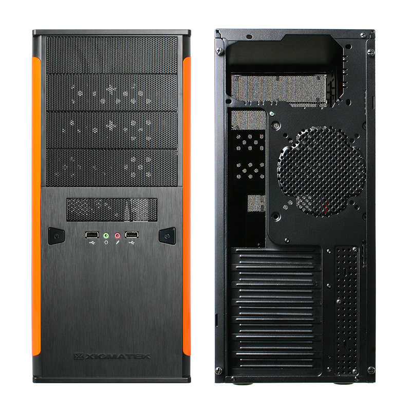Xigmatek Asgard II – orange Front Back