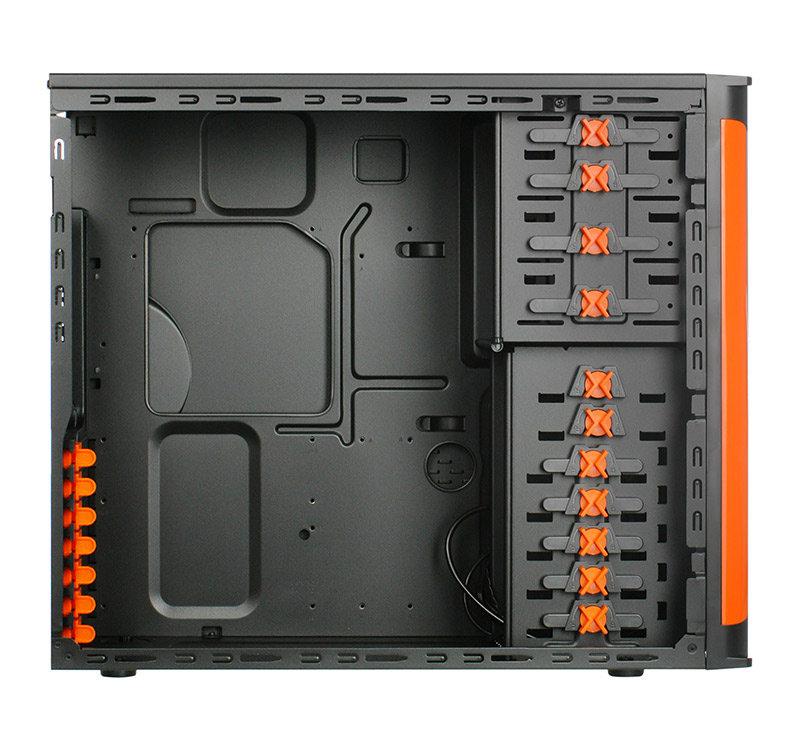Xigmatek Asgard II – orange Innenraum