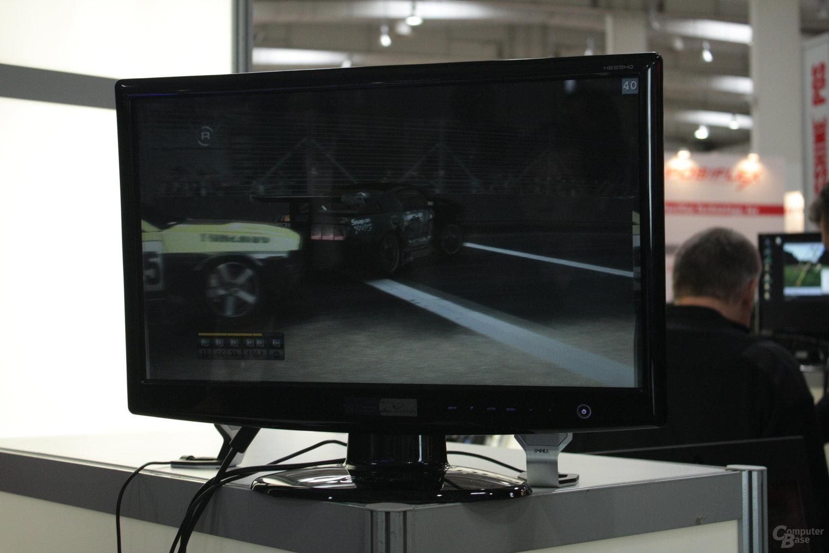 3D-Monitor mit Streifenmaske