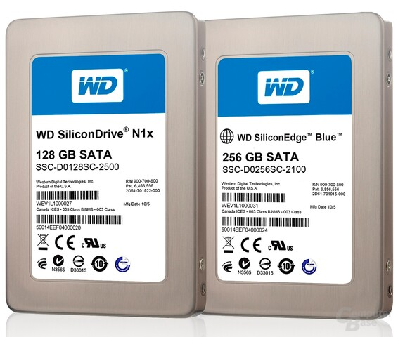 Western Digital SiliconEdge Blue 256 GB und SiliconDrive N1x 128 GB