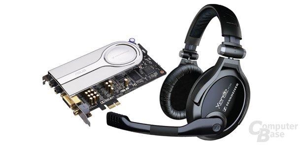 Asus Xonar Xense mit Sennheiser-Headset