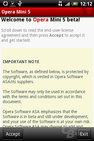 Opera Mini 5 – EULA