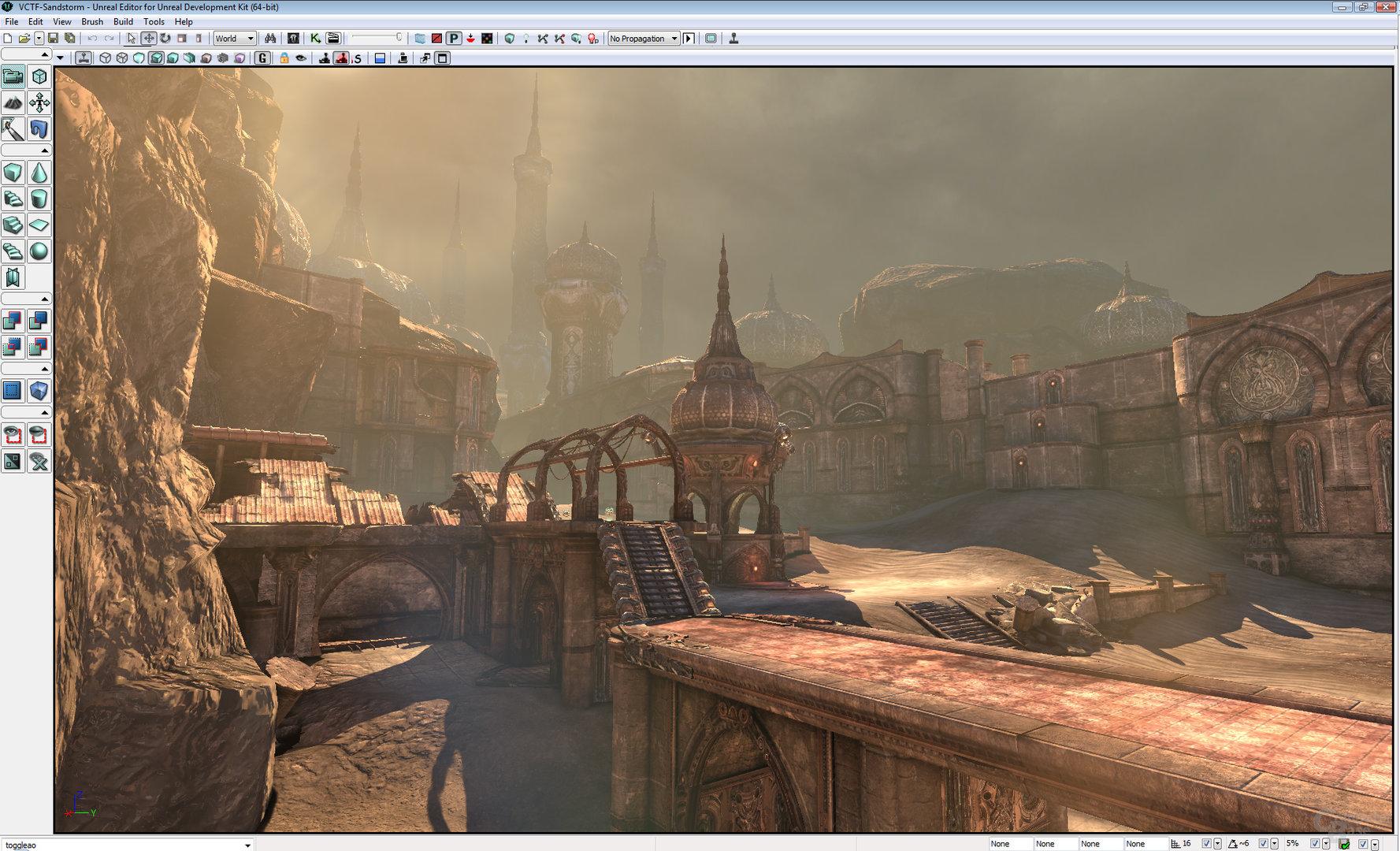 Sandsturm-Darstellung auf Basis des UDK mit 3D Vision