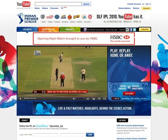 IPL-Kanal auf YouTube