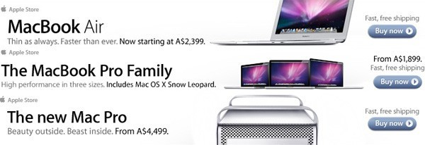 Neue Macs in australischer Apple-Werbung