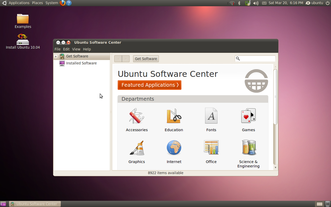 "Ubuntu 10.04 ""Lucid Lynx"" (Software Center)"