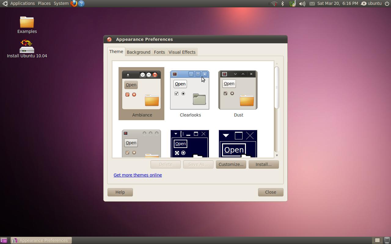 "Ubuntu 10.04 ""Lucid Lynx"" (Themes)"