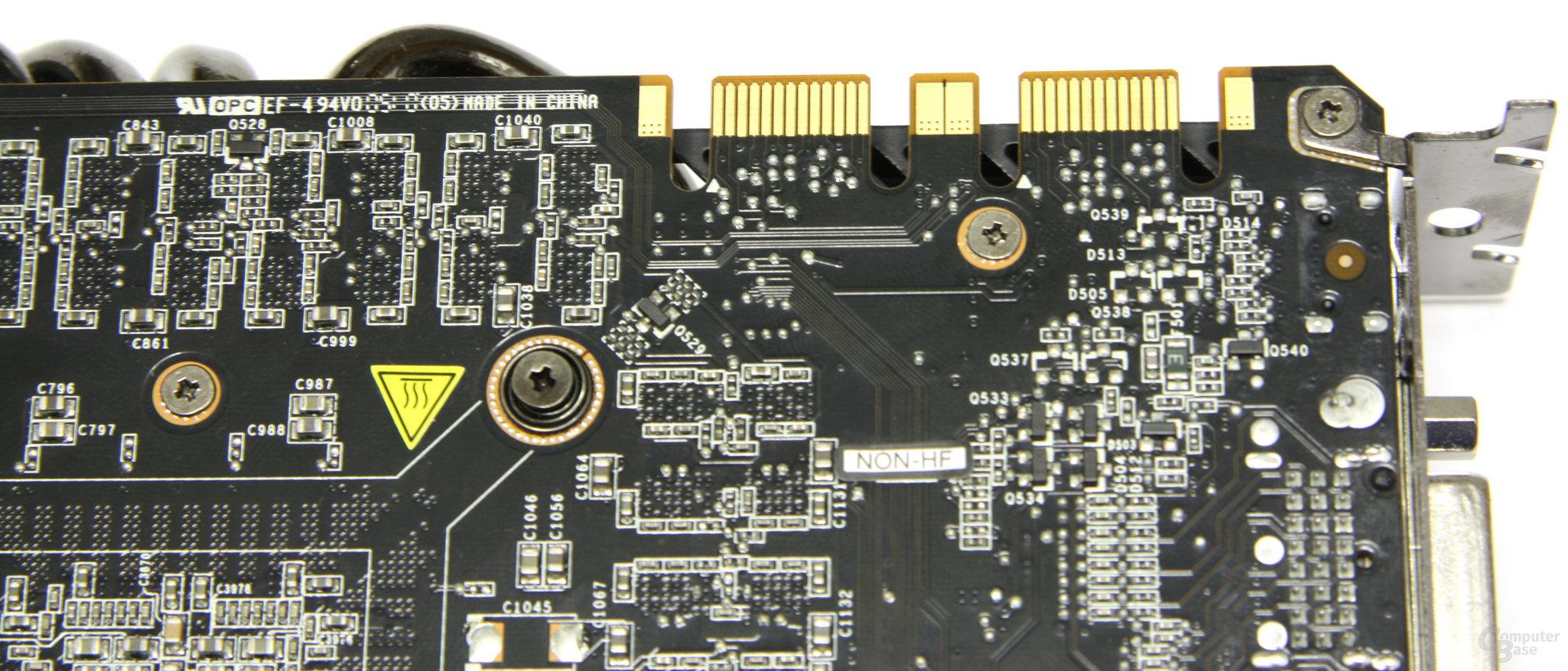 GeForce GTX 480 SLI-Anschlüsse