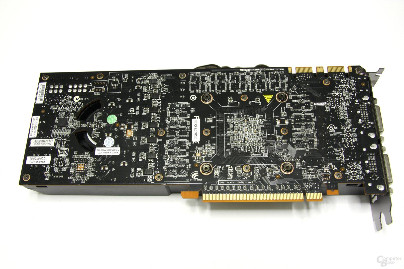 GeForce GTX 480 Rückseite