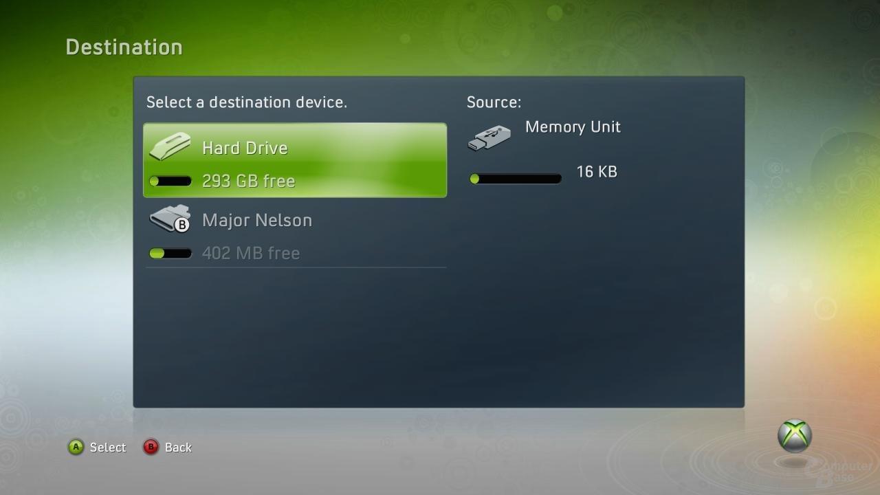 Neue Speicherverwaltung für die Xbox 360