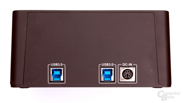 Anschlüsse des Sharkoon SATA Quickport Duo USB 3.0