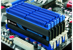 24 GB großes DDR3-1600-Kit aus Corsairs Dominator-Produktreihe