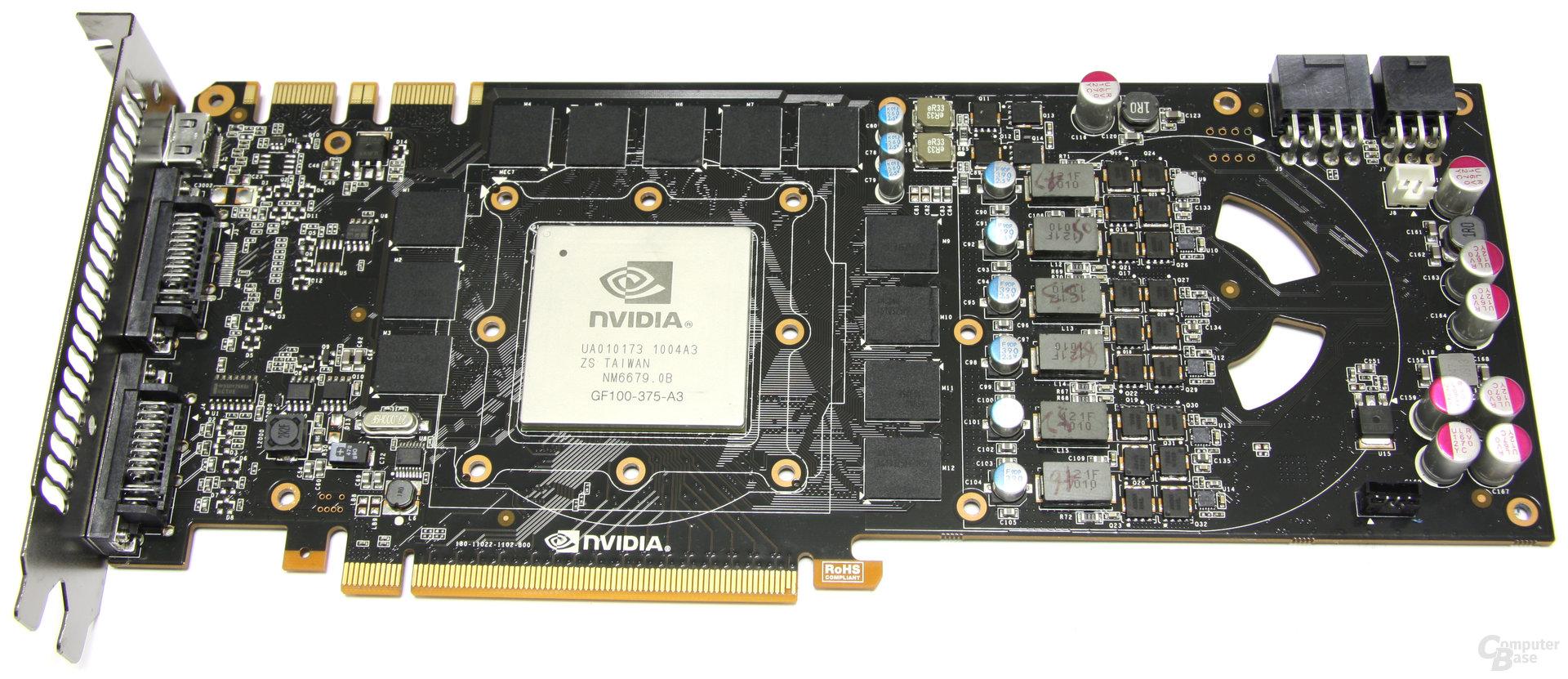 GeForce GTX 480 ohne Kühlkörper