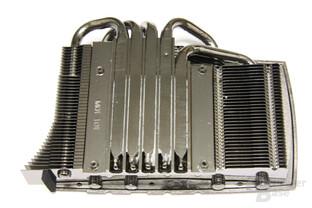 GeForce GTX 480 Kühlerrückseite