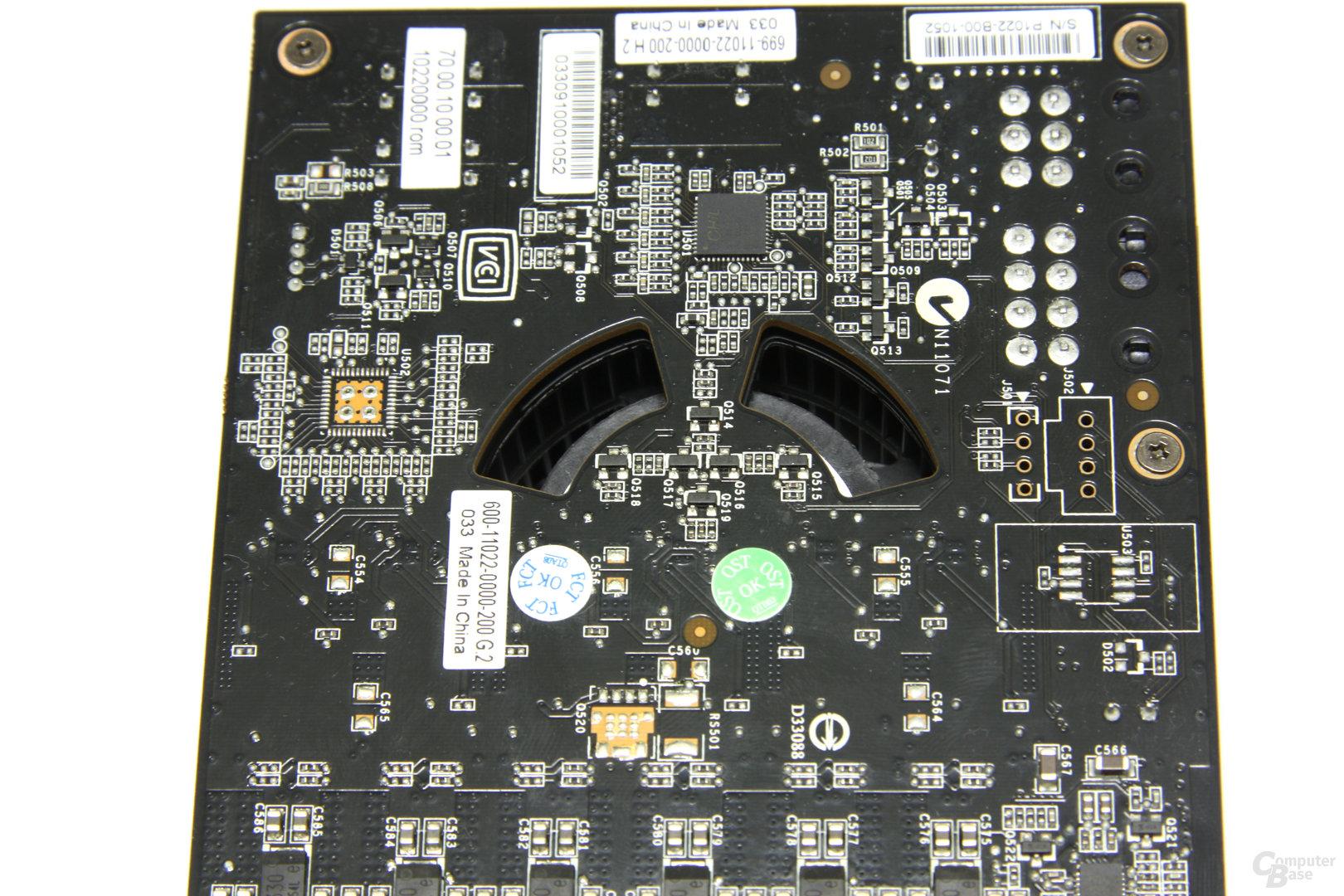 GeForce GTX 480 Lüfterschlitze