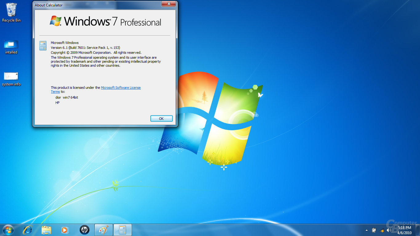 geleaktes Service Pack 1 für Windows 7
