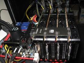 EVGA zeigt vier GeForce GTX 480 im SLI-Verbund
