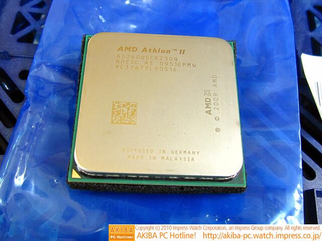 AMD Athlon II X2 260u mit 25 Watt TDP