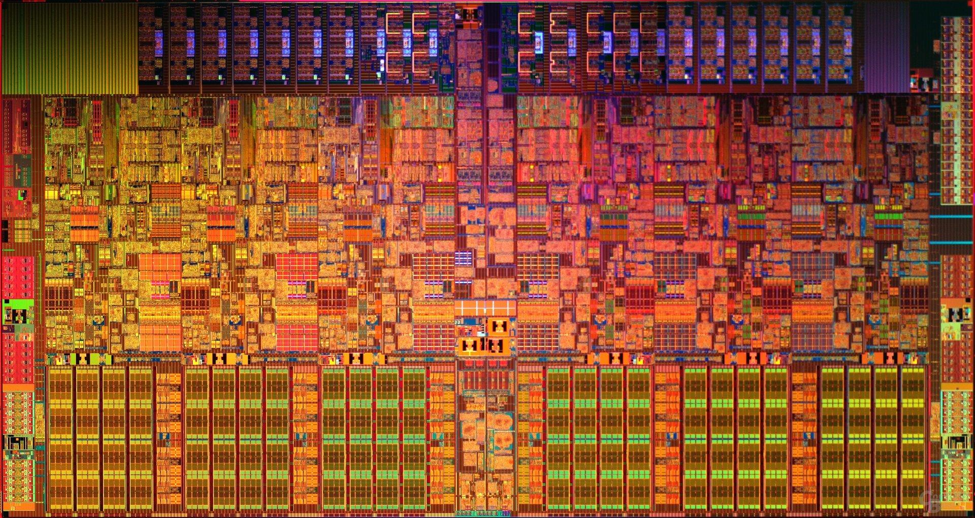Westmere-EP (32 nm): sechs Kerne und 12 MByte L3-Cache auf 248 mm²