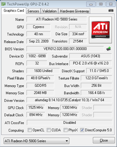 ATi Radeon HD 5870 mit 1.525 MHz Chiptakt