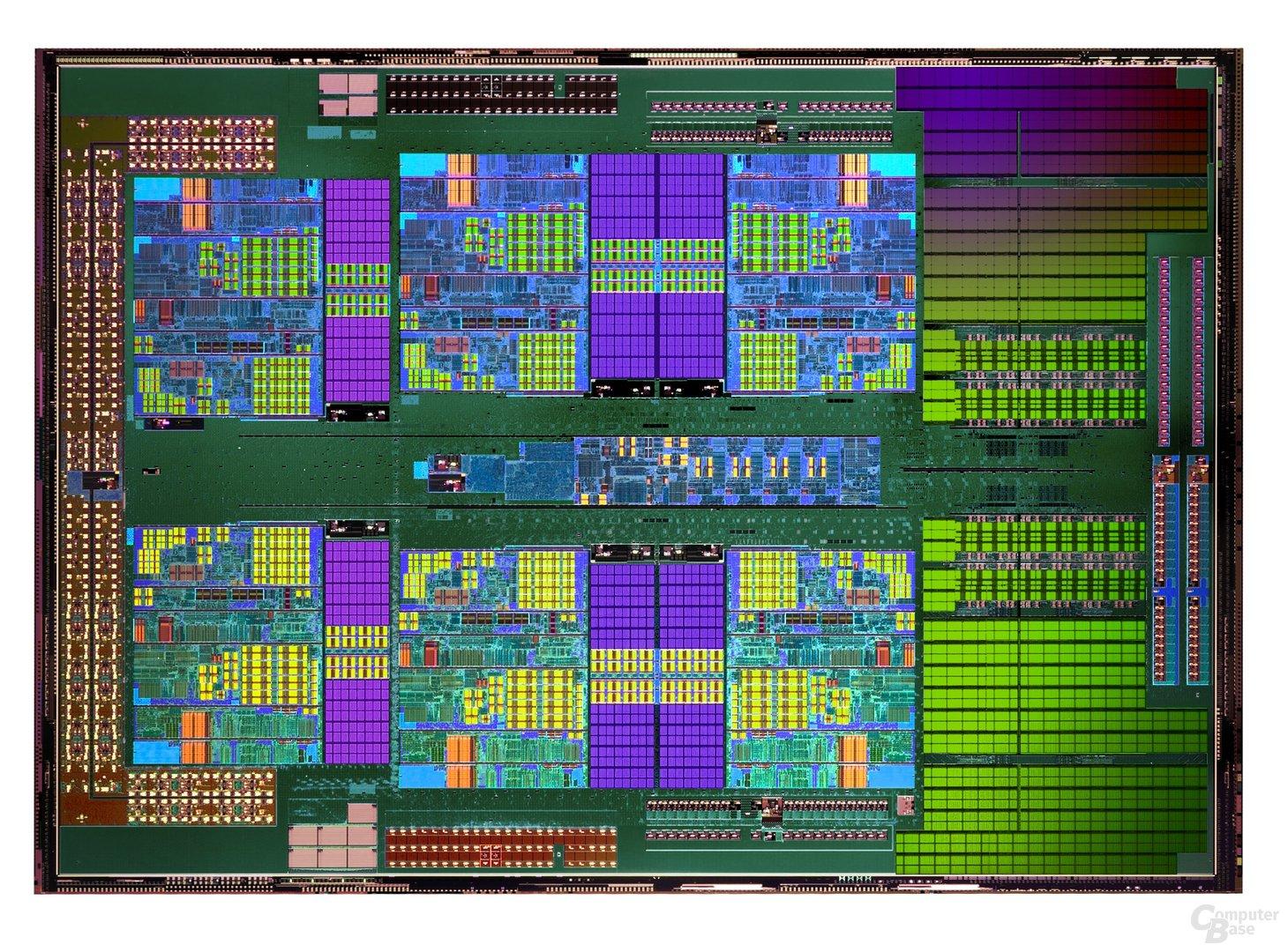 Die-Shot des AMD Phenom II X6