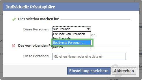 Privatsphäre-Einstellungen