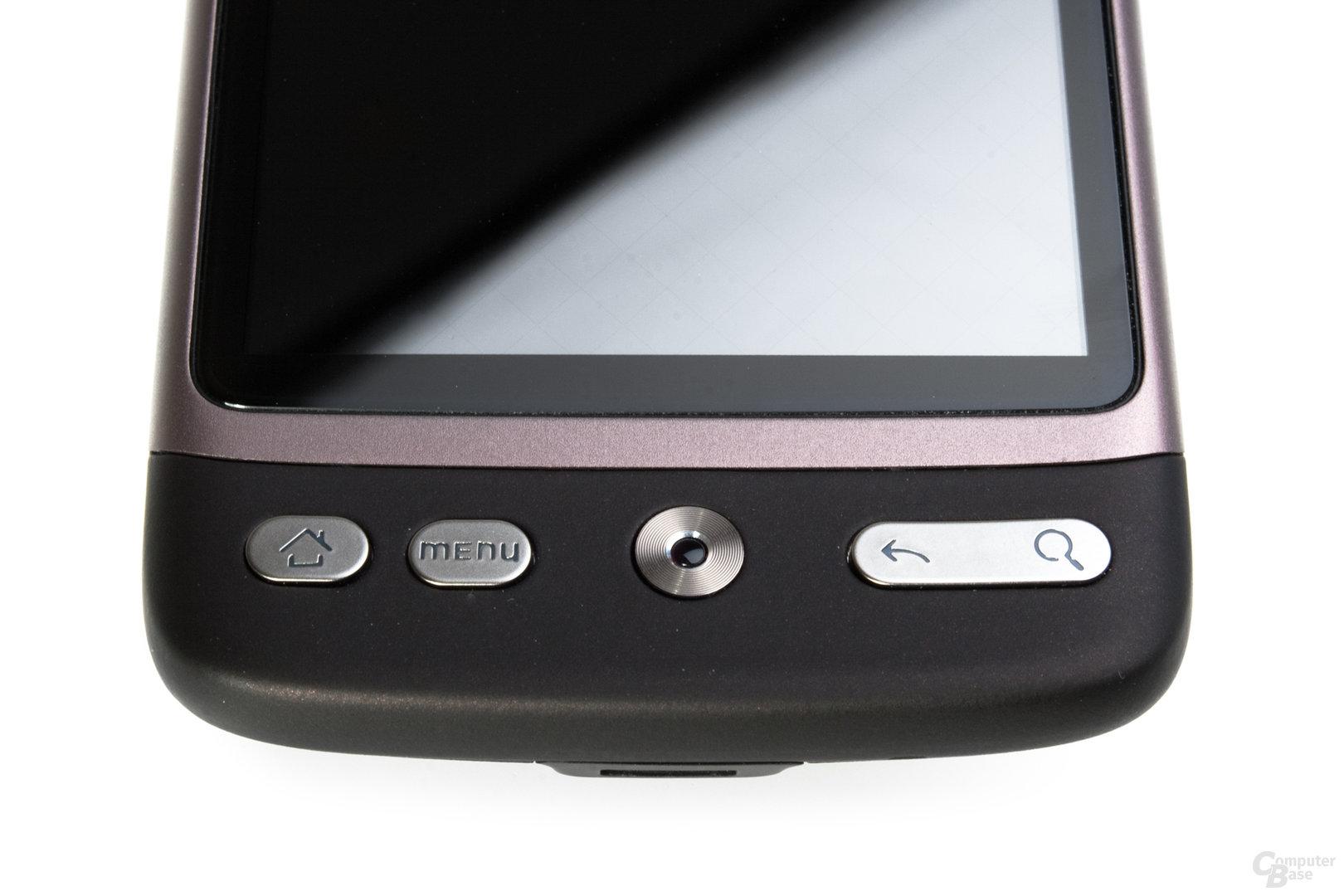 HTC Desire Buttons und Touchpoint
