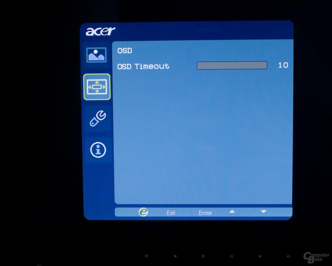 Onscreen Menü Acer D241H 4