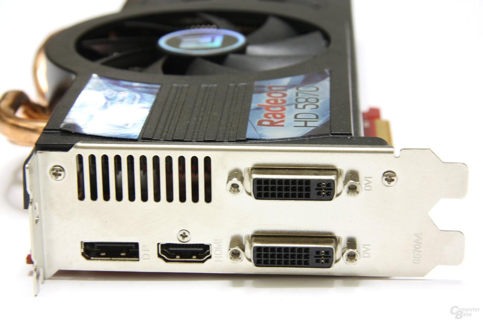 Radeon HD 5870 PCS+ Slotblech