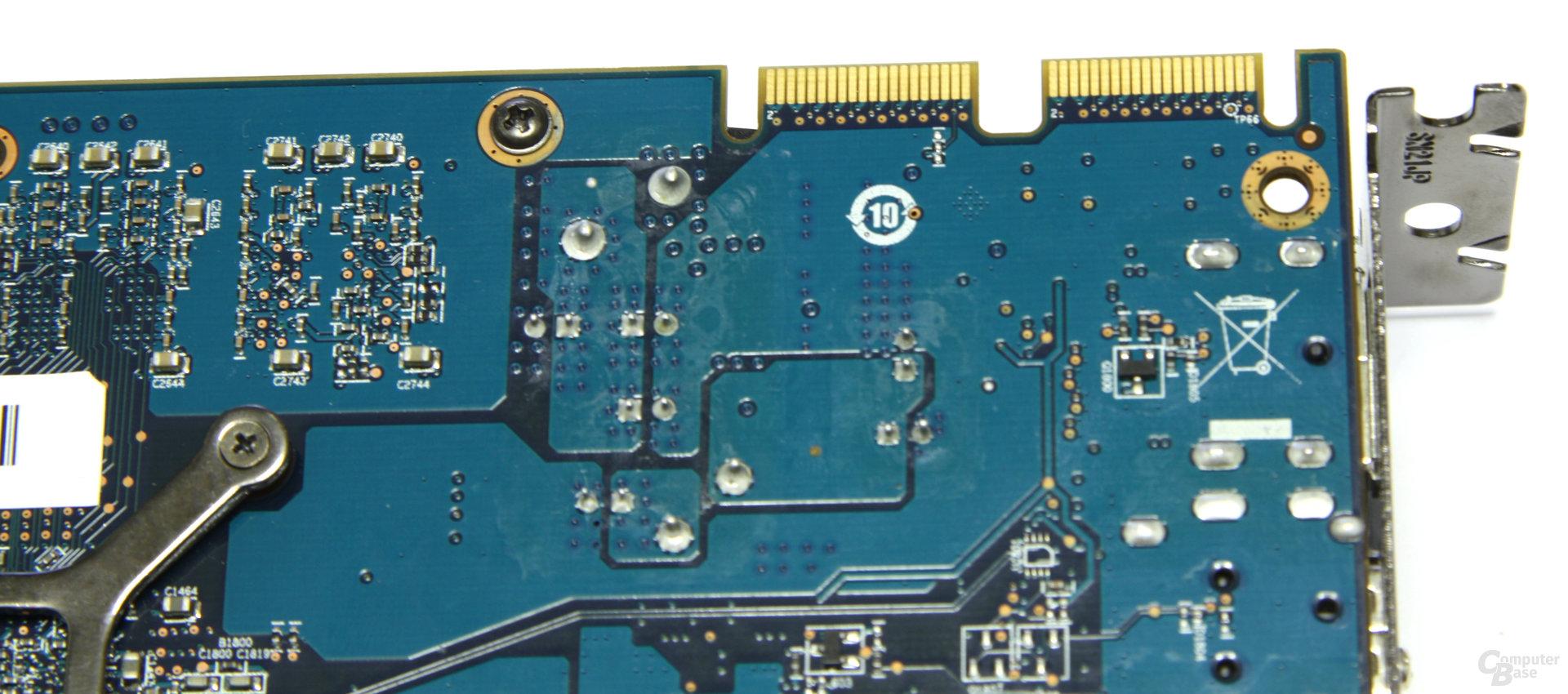 Radeon HD 5870 iCooler V Turbo CF-Anschlüsse