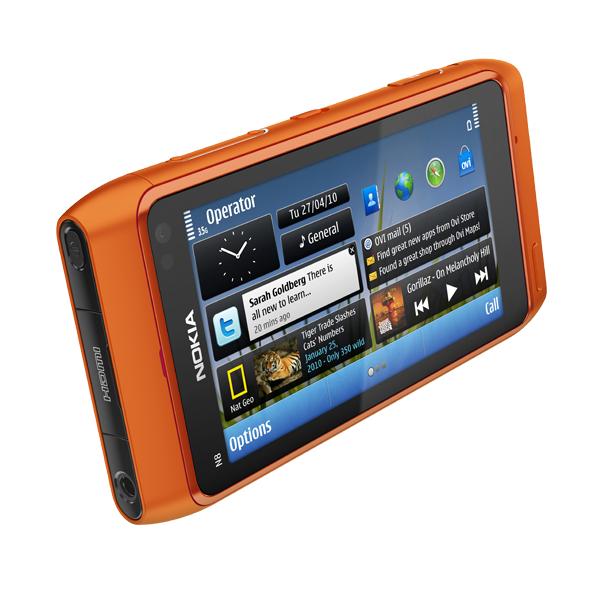 Nokia N8 – Seitenansicht (orange)
