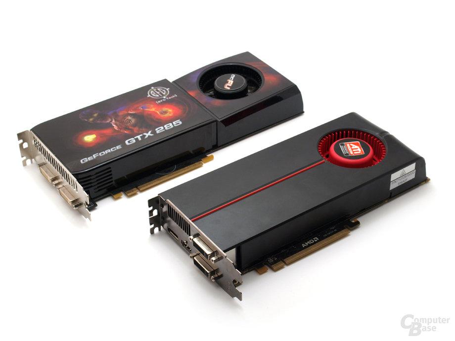 Testgrafikkarten Radeon HD5850 und GTX285 OC