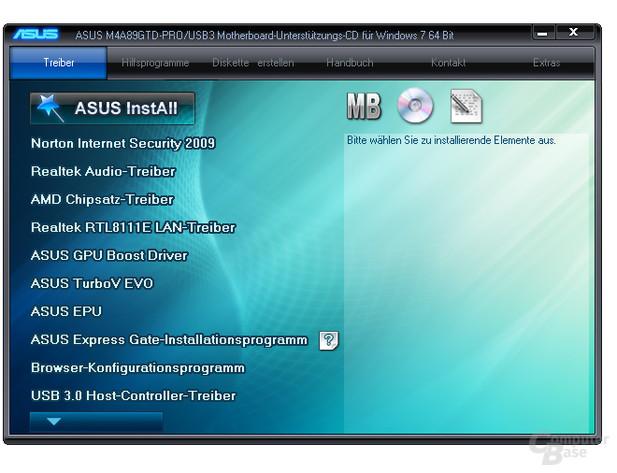 Asus M4A89GTD Pro/USB3 – Software