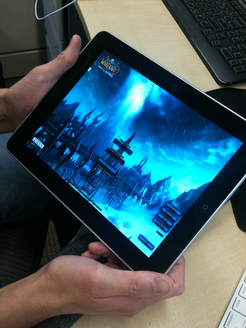 World of WarCraft auf dem iPad