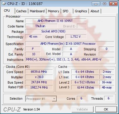 AMD Phenom II X6 bei 6,94 GHz