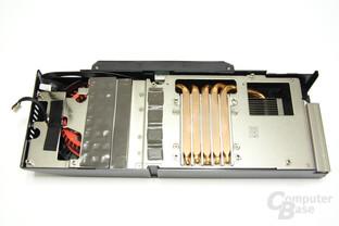 Radeon HD 5870 Matrix Kühlerrückseite