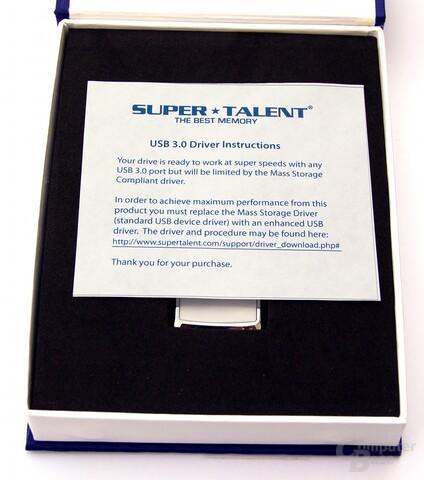 Verpackung mit Hinweis auf den UASP-Treiber