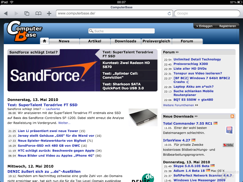 iPad Browser